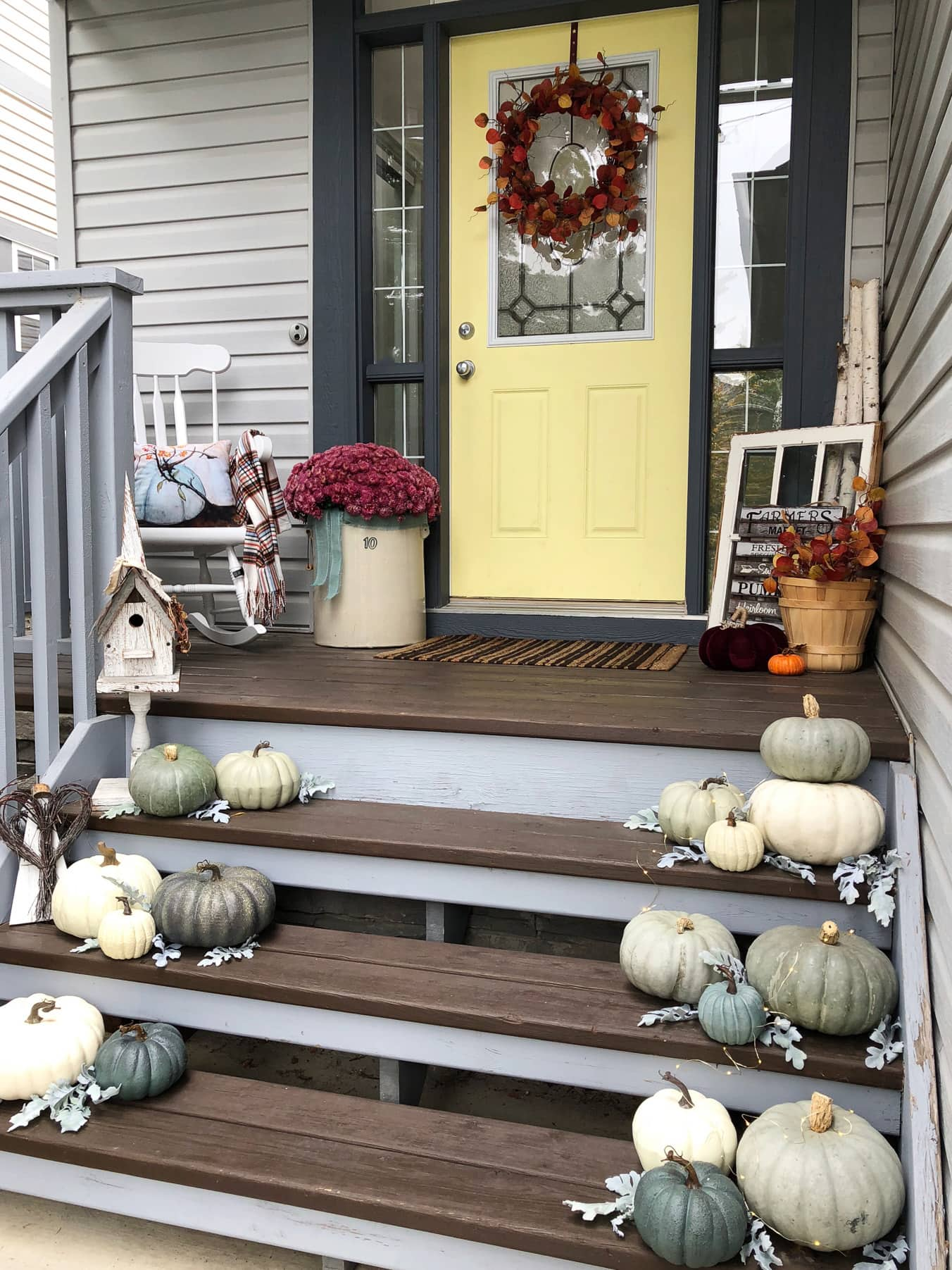 Pretty Fall Porch