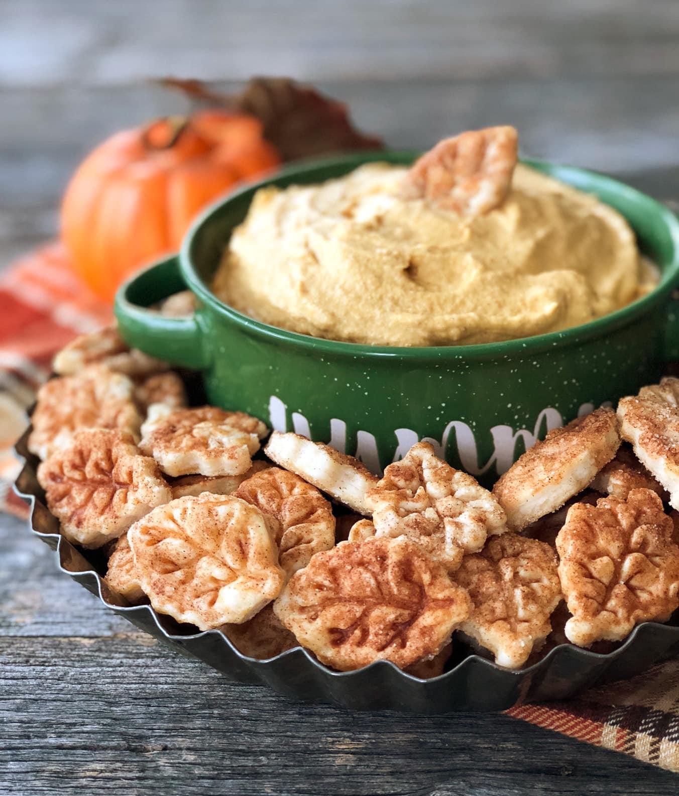 Pumpkin Pie Dip with Pie Crust Dippers