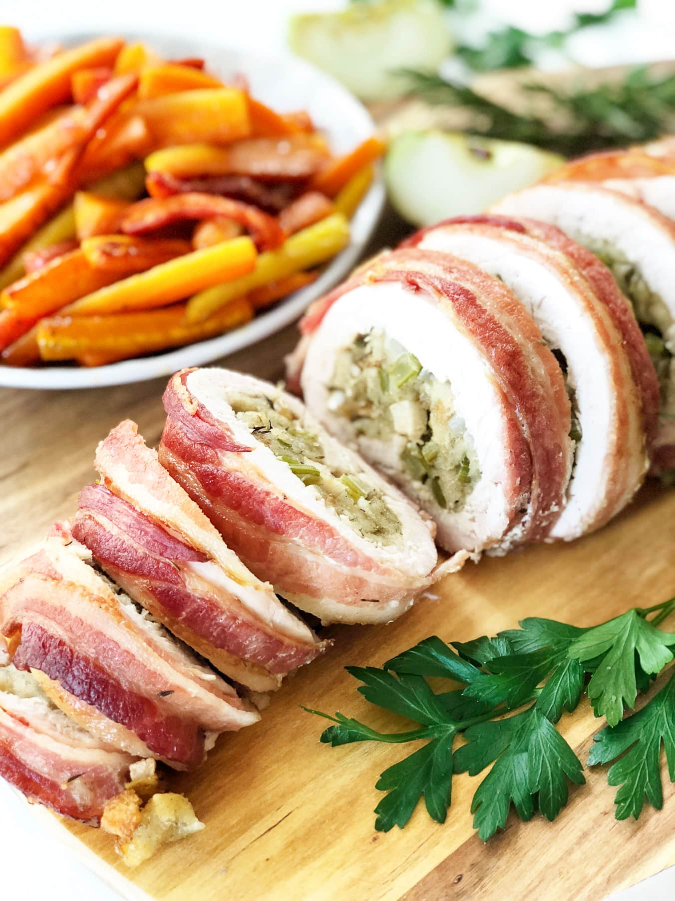 Stuffed Turkey Breast Roll