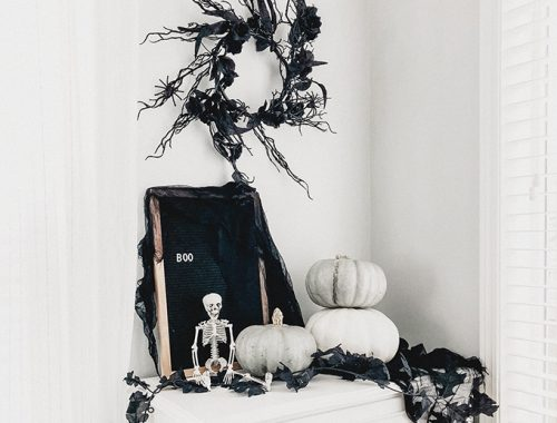 Spooky Wispy Halloween Wreath-F