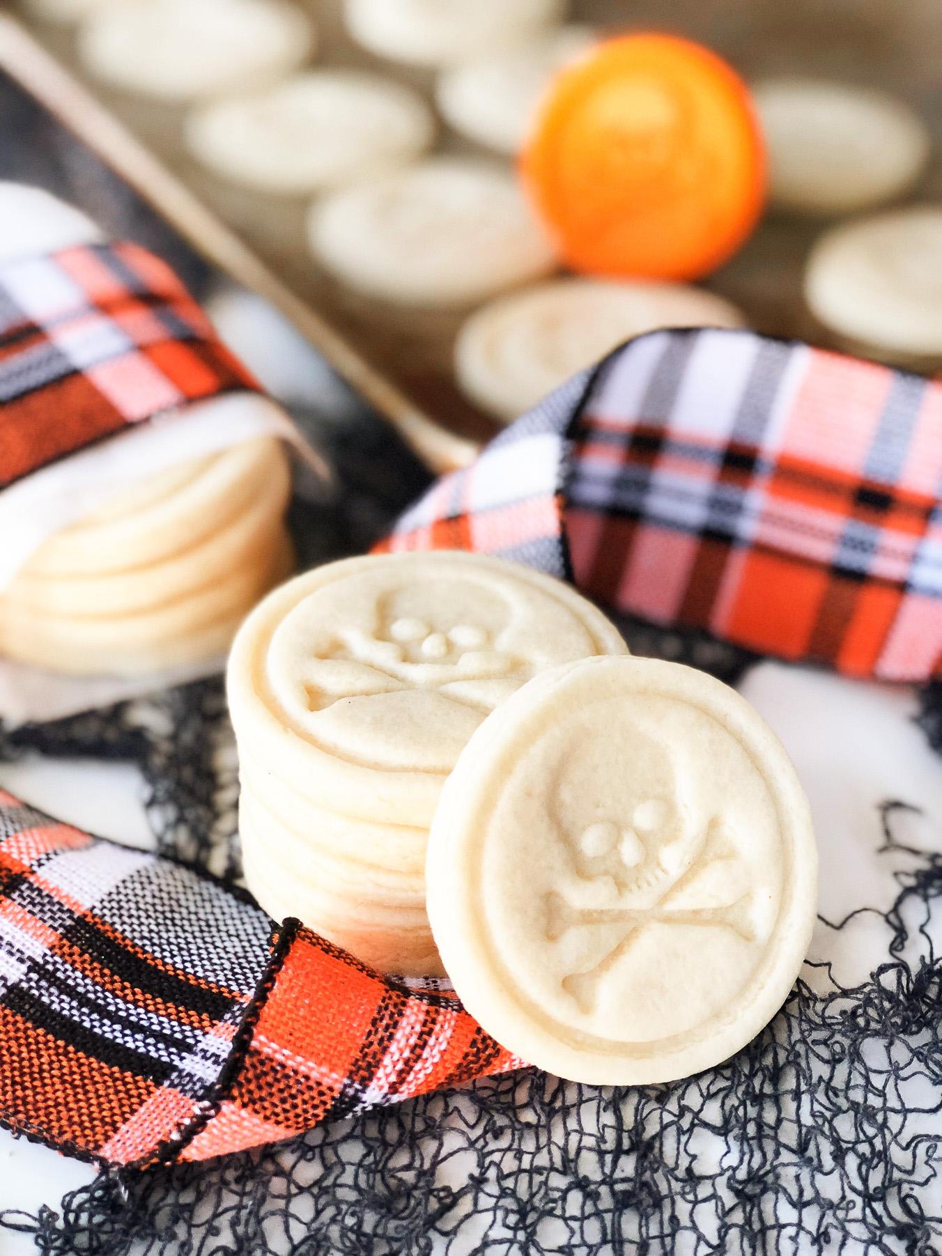 Stamped Halloween Sugar Cookies