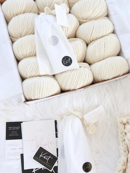 DIY Chunky Knit Blanket from Lynne Knowlton