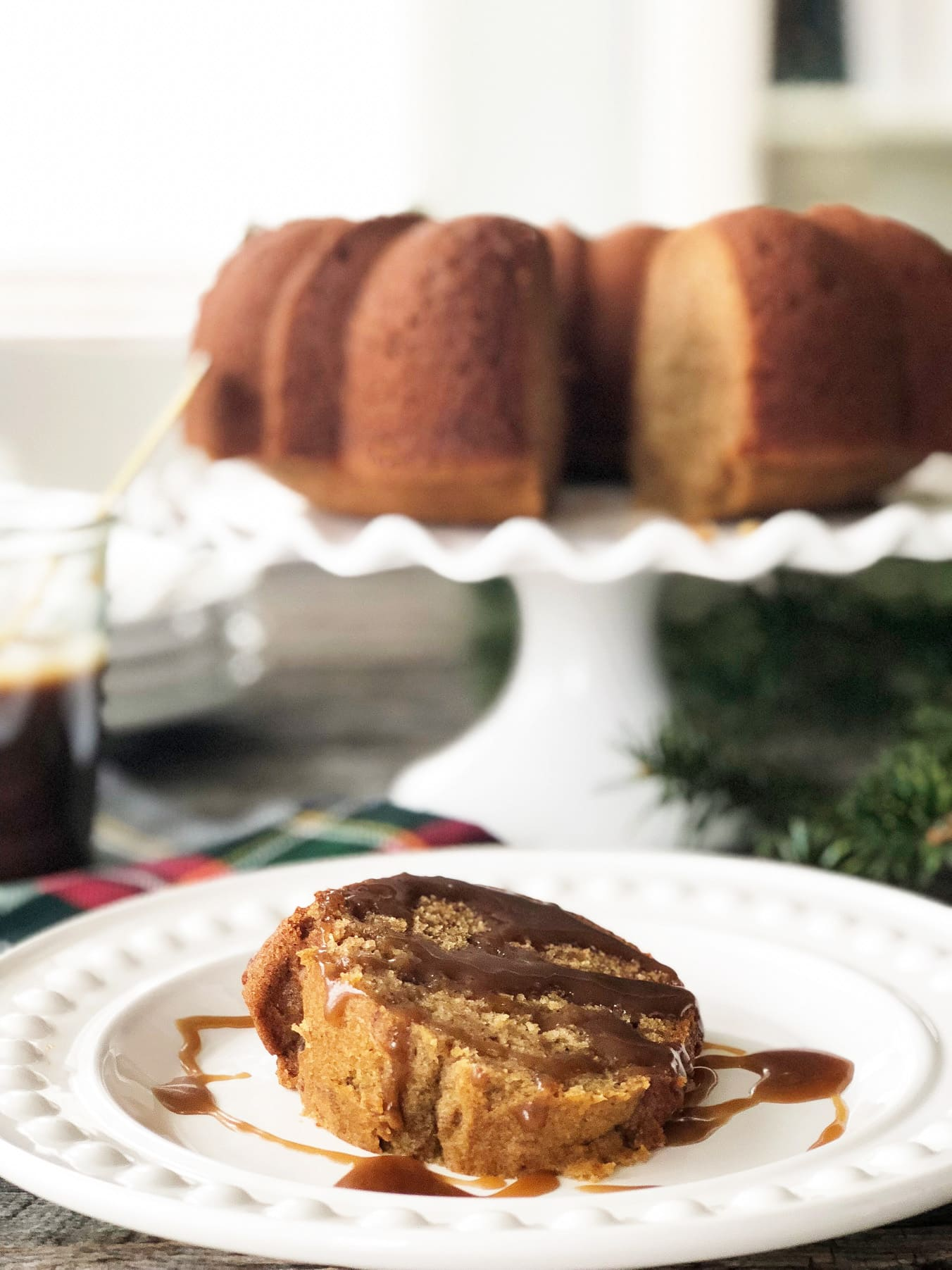Sticky Date Pudding Bundt Cake with homemade Toffee Sauce