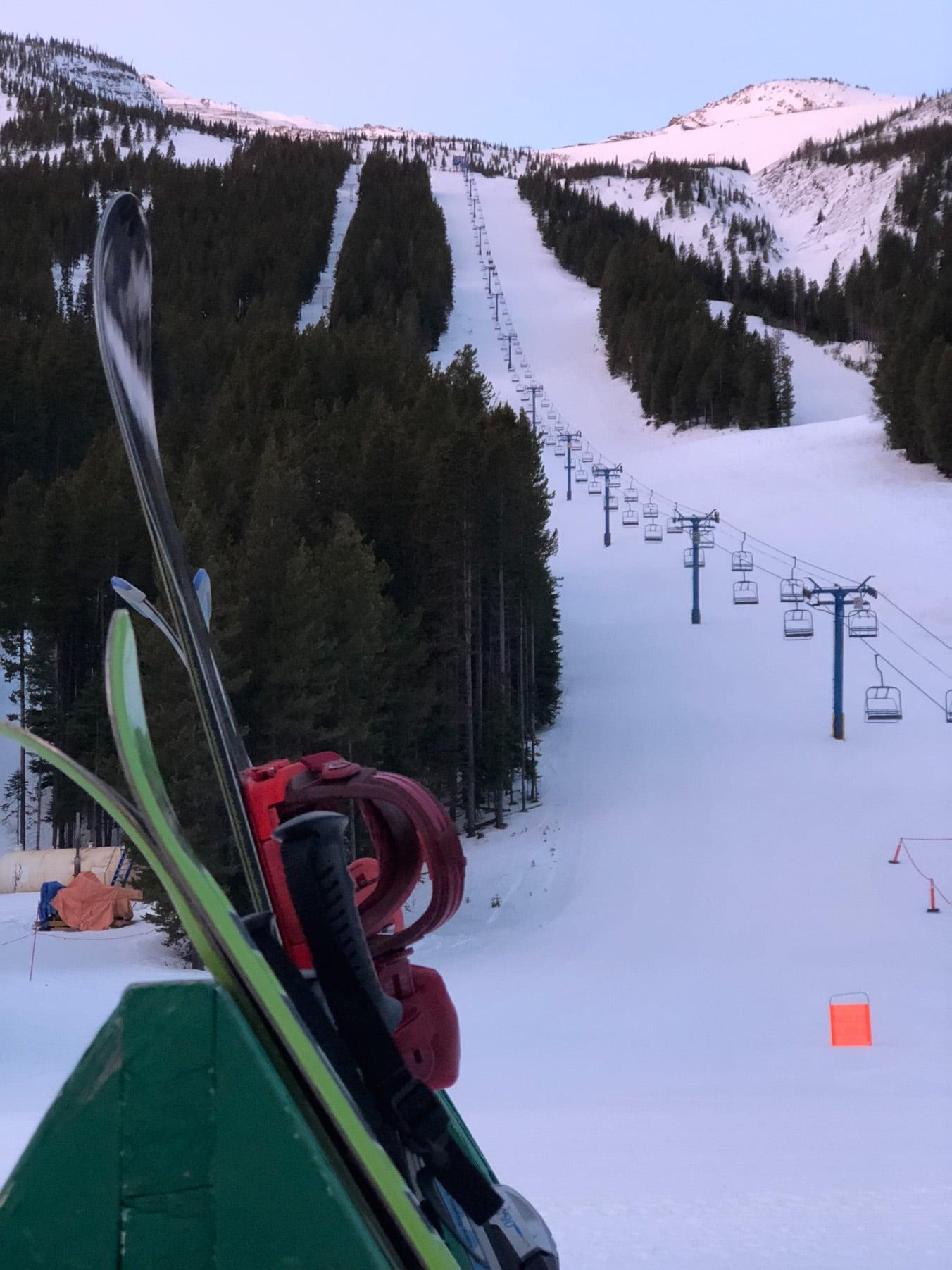 Ski at Castle Mountain, Alberta
