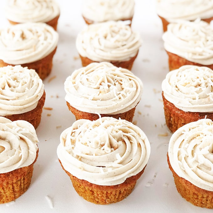 Carrot Cake Cupcakes with Cinnamon Cream Cheese Frosting