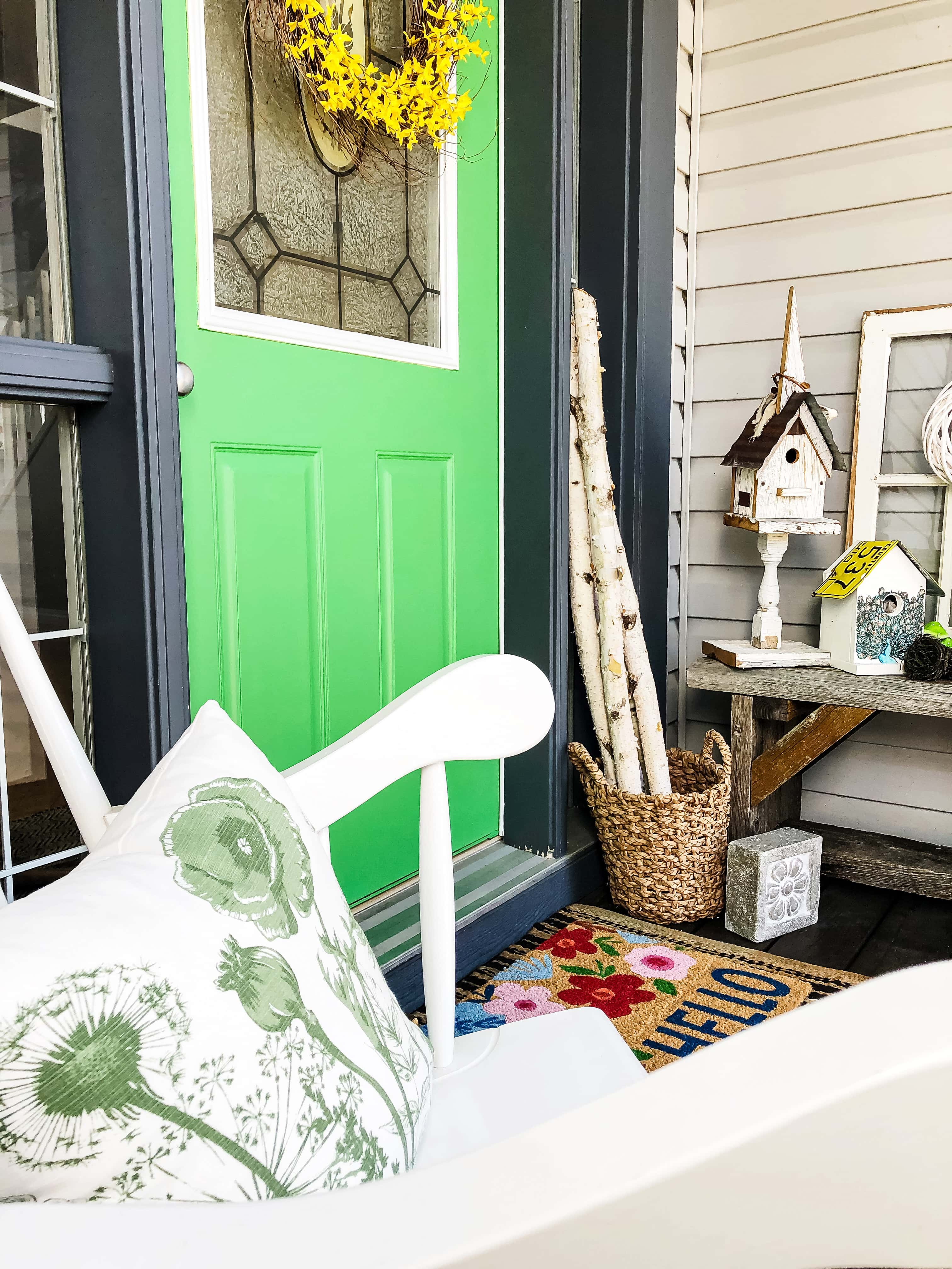 Bright and Cheery Simple Spring Porch
