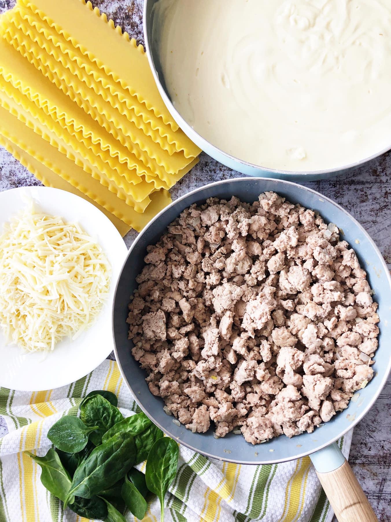 Creamy White Turkey Lasagna Recipe