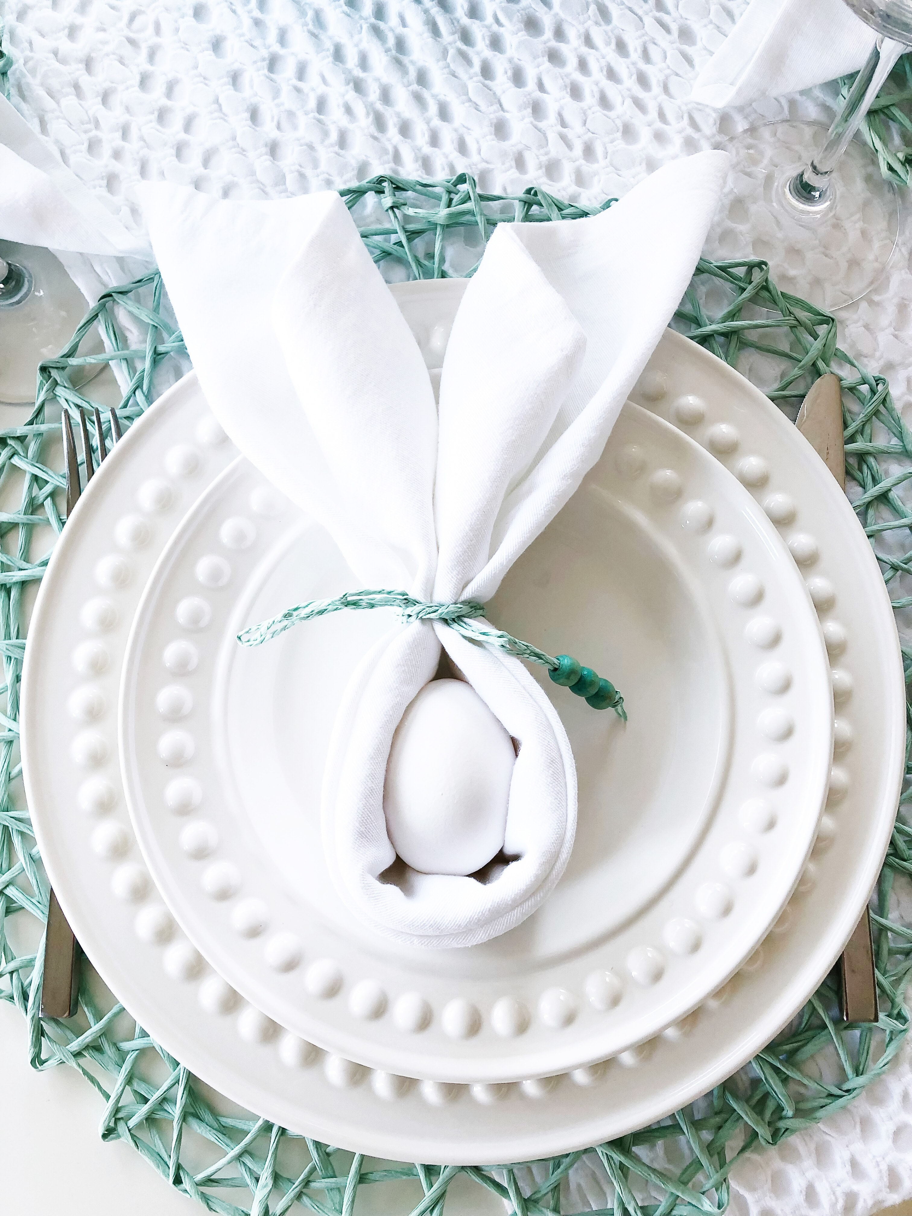 How to make a Bunny Napkin fold