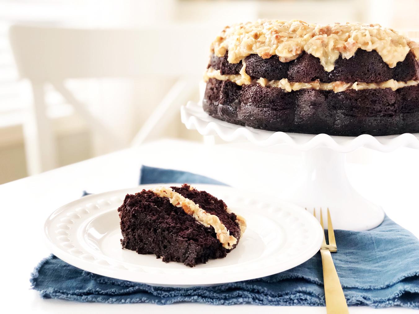 The Most Chocolatey German Chocolate Cake