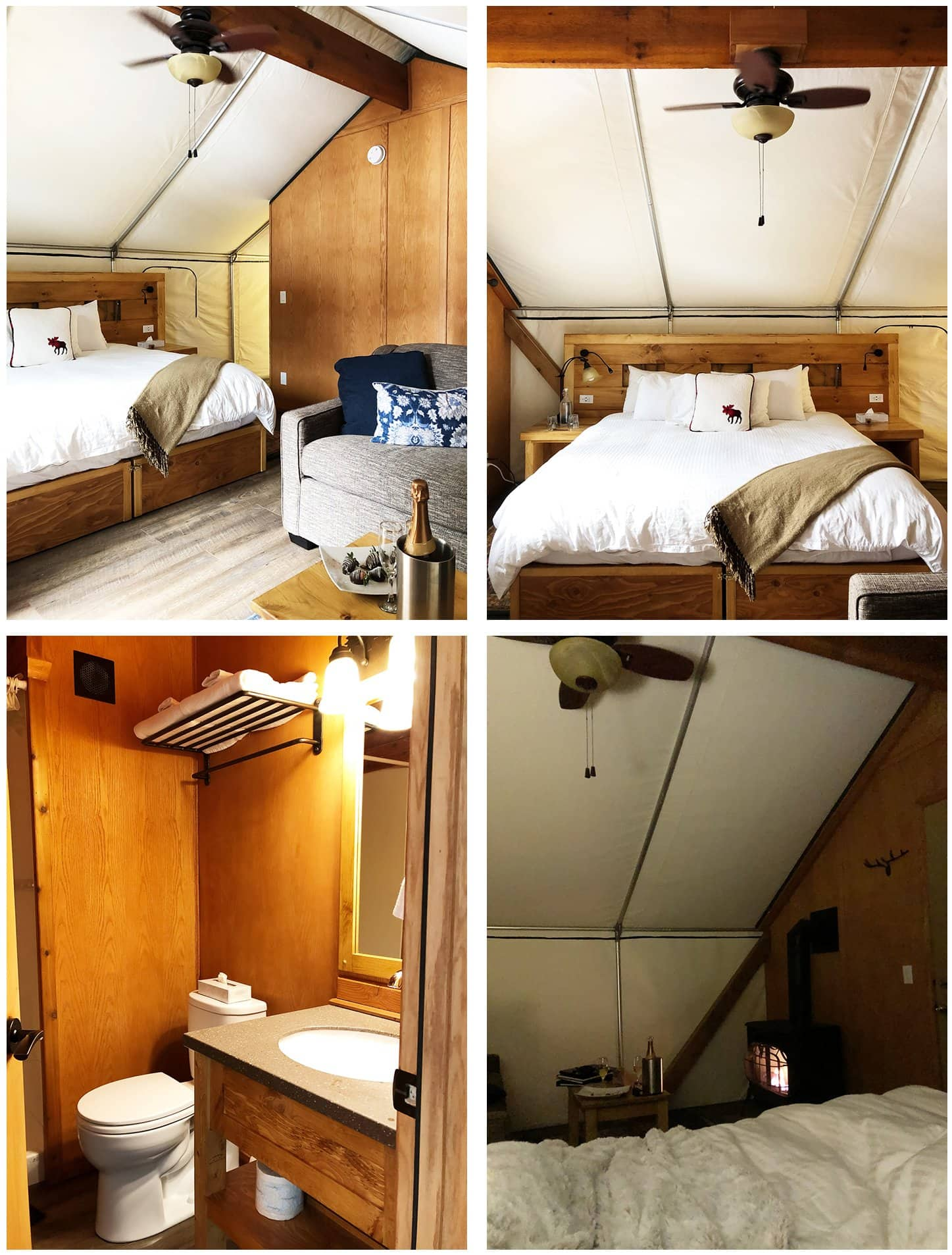 Glamping Tents at Mount Engadine Lodge