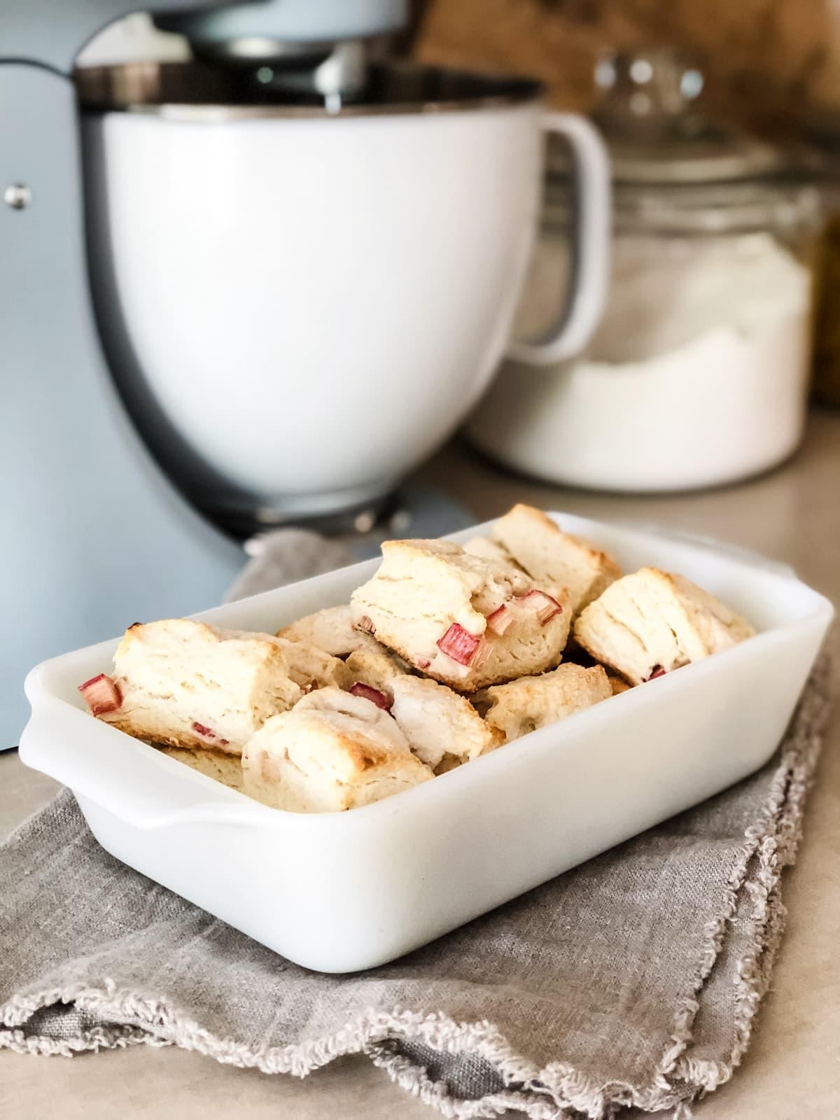 Rhubarb Cream Scones