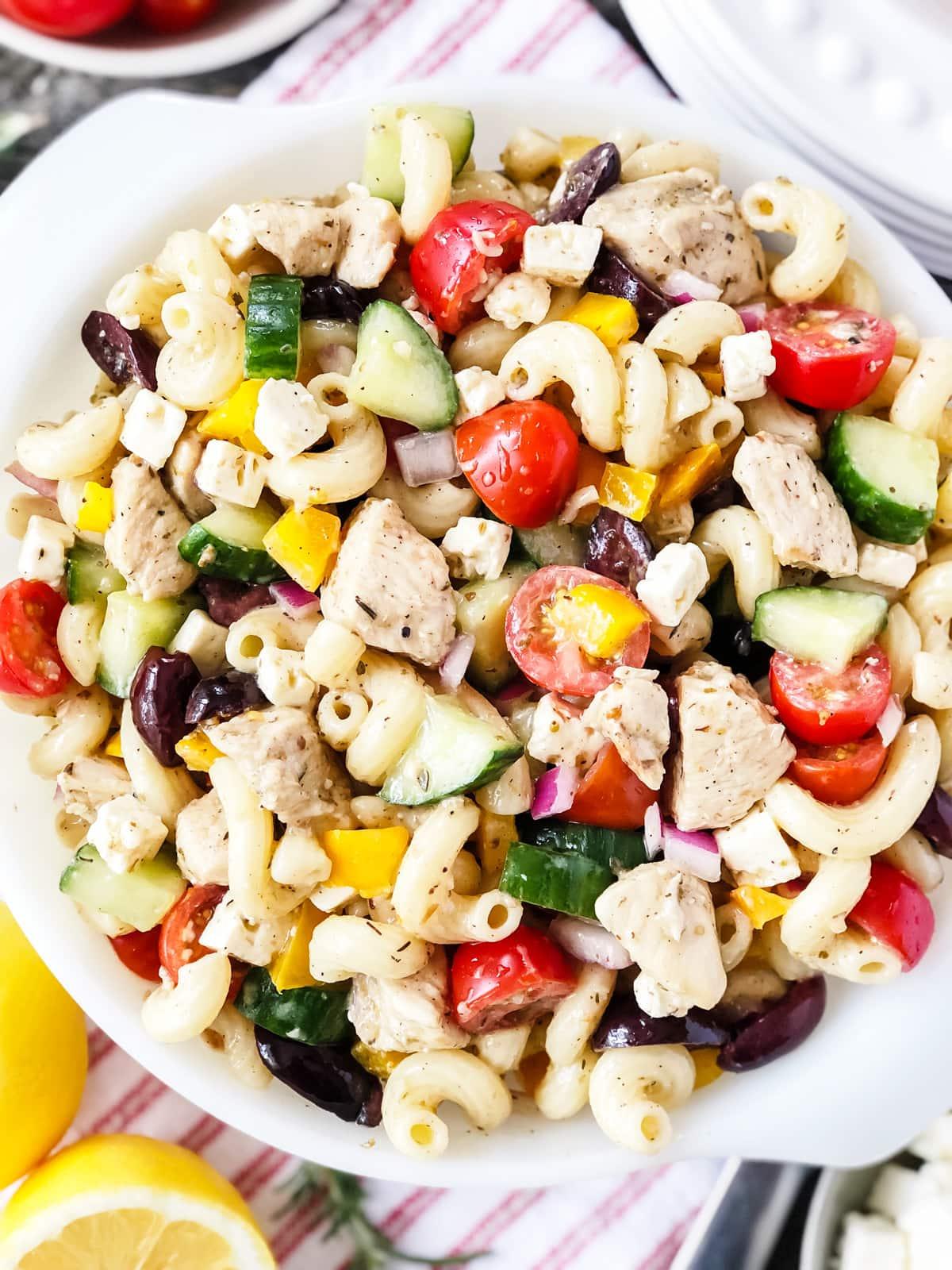 Greek Pasta Salad with Chicken