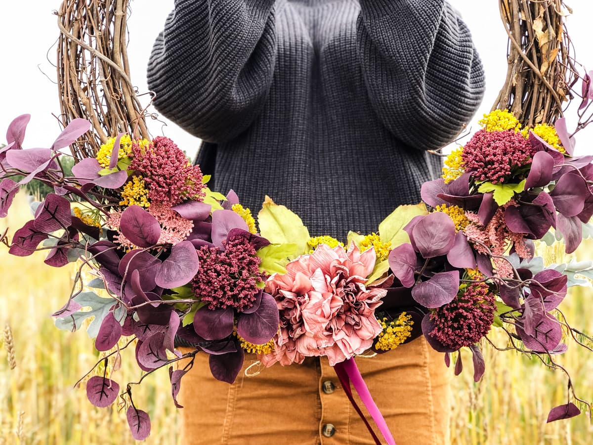 DIY Floral Fall Wreath